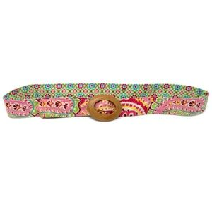 Vera Bradley Capri Melon Belt Wooden Closure 45""